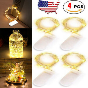 4-pack-20-LED-String-Fairy-Lights-Copper-Wire-Battery-Power-Christmas-Warm-White