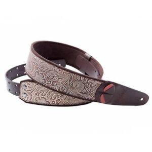 RightOn-Mojo-Sandokan-Beige-Synthetic-6cm-wide-Guitar-strap-Right-On