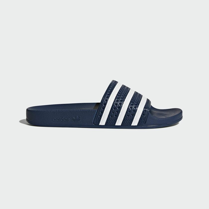 Adidas Originals Adilette Navy White Slides 3 Stripes Men Made In  288022