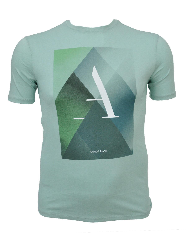 ARMANI JEANS T-Shirt Shirt Aufdruck Print PIMA COTTON Gr. M-3XL NEU SOMMER 2018