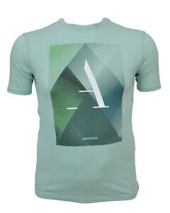 save off 52c42 46459 Details zu ARMANI JEANS T-Shirt Shirt Aufdruck Print PIMA COTTON Gr. M-3XL  NEU SOMMER 2018