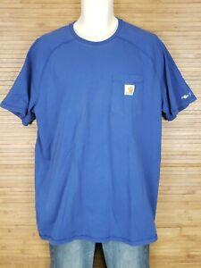 Carhartt-Blue-Relaxed-Fit-Short-Sleeve-T-Shirt-Mens-Size-XL