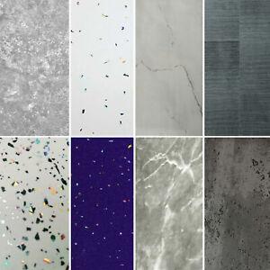 10 White Black Grey Sparkle Marble Shower Wall Panels Pvc Bathroom Cladding Ebay