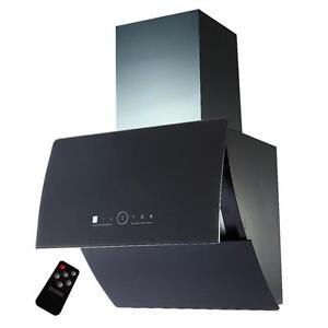 dunstabzugshaube kopffreihaube saturn 60 cm edelstahl schwarzglas abzugshaube ebay. Black Bedroom Furniture Sets. Home Design Ideas