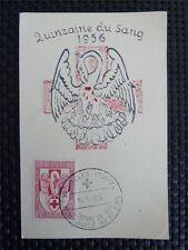 Belgio MK 1956 CROCE ROSSA RED CROSS maximum carta carte MAXIMUM CARD MC c3940