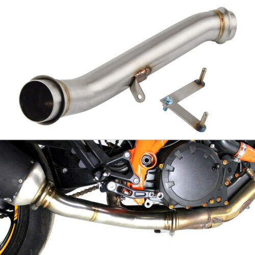 Exhaust Eliminator Down Pipe For KTM 1290 SUPER DUKE R 14 15 16 Staniless Steel