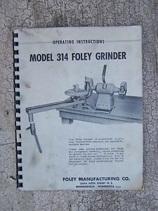 1967 314 foley grinder operating manual more power tool manuals in rh ebay com bosch power tool manuals aeg power tool manuals