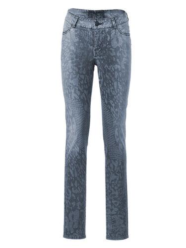 Damen Hose grau meliert  Streifenhose mit lässig weitem Beinverlauf  !* 9536778
