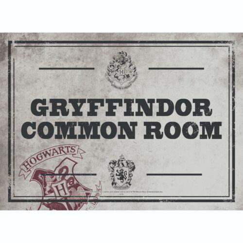 Harry Potter Tin Metal Wall or Door Sign Hogwarts Gryffindor Common Room