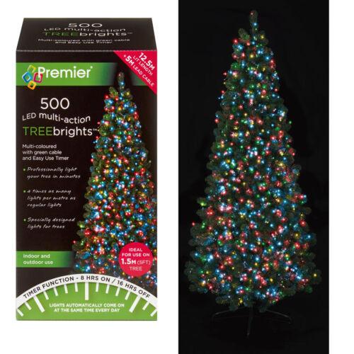 500 DEL Arbre de Noël brillants Minuterie éclairage multi action premier-Choisir Couleur