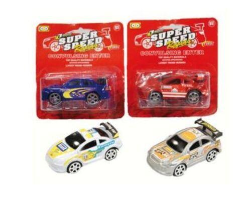 4 x Auto Rennauto Spielzeugauto Giveaway Kinder Geburtstag Mitgebsel Tombola