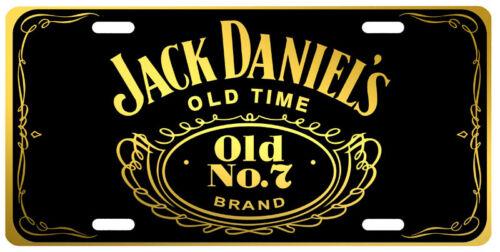 Jack Daniels Black Gold Silver Novelty Auto Car License Plate