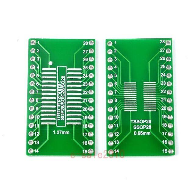 5pcs SO28 SOP28 SSOP28 TSSOP28 SOIC28 to DIP28 Adapter Converter PCB Board 247