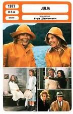 FICHE CINEMA : JULIA - Fonda,Redgrave,Robards,Zinnemann 1977