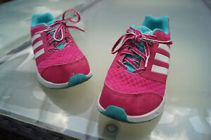 Adidas-Women-039-s-Girl-039-s-Shoes-Trainers-Fitness-Running-Gr-38-UK5-5-PINK-White-6k