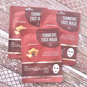 The Creme Shop Turmeric Face Mask Potent Herbal Revival Hydrate Skin Lot of 3