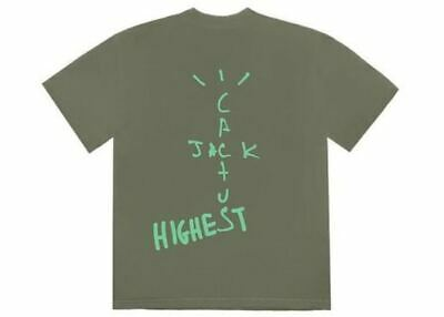 Travis Scott Nike Air Jordan Cactus Jack Highest T Shirt Olive Large Sold Out Ebay