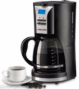 Black Decker 12 Cup 220 Volt Programmable Coffee Maker 220v