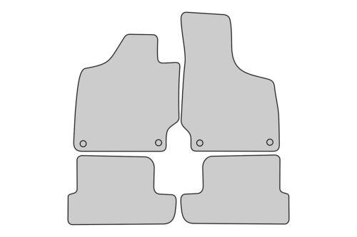 2006-2014 Exclusive Line Fußmatten für Audi TT 8J Coupe Roadster S-Line Bj