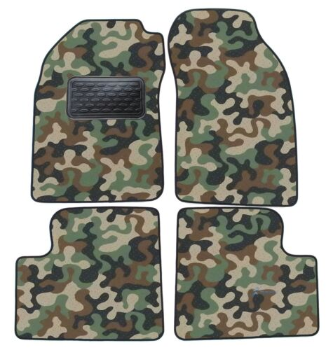 Armee-Tarnungs Autoteppich Autofußmatten für Nissan Micra K11 1992-2002