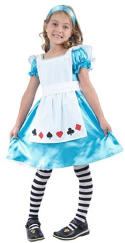 Kids Bookweek Fairytale Storybook Girls Alice Wonderland Costume 6,8,10
