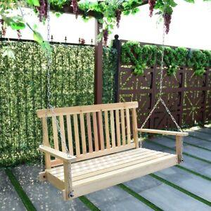 Silla colgante columpio de madera para 2 personas 4 - Sillas madera jardin ...