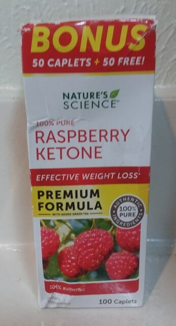 NATURE'S SCIENCE 100% Pure Raspberry Ketone Effective Weight Loss 100  Caplets