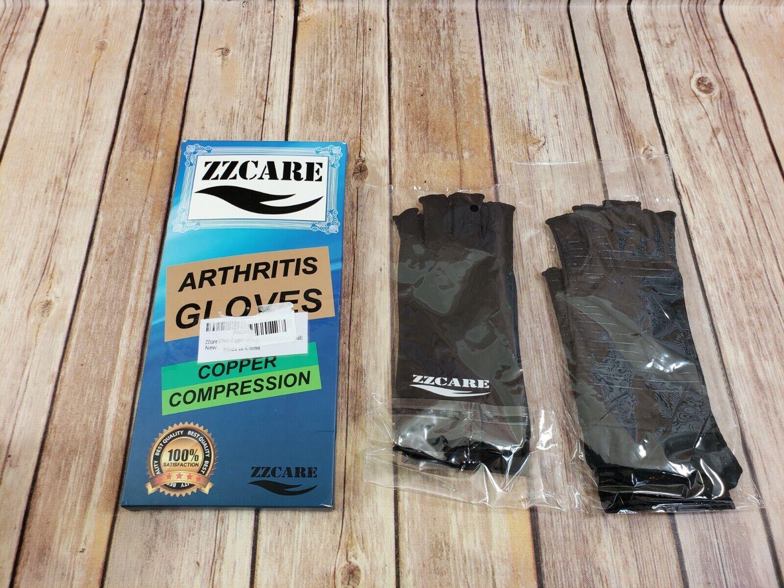 Copper Arthritis Gloves for Women Men ZZcare Compression Gloves for Art Small