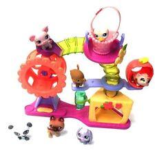 THE LITTLEST PET SHOP Medium Playset & figure set lot, cats, dogs Good condition