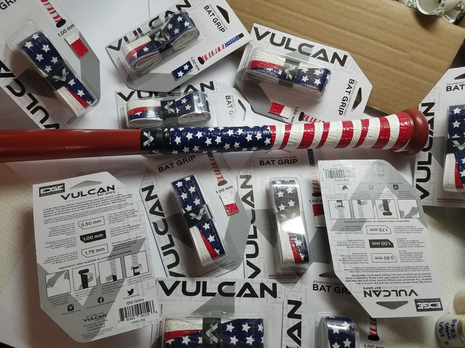 18 Grips  America  Vulcan Advanced 1mm Baseball Softball Bat Handle Cushion Tape