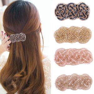 2 Pcs Barrette Hairpin Girl Hair Accessories Stick Crystal Pin Hair Clips Womens