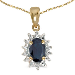 14k-Yellow-Gold-Oval-Sapphire-And-Diamond-Pendant-with-18-034-Chain