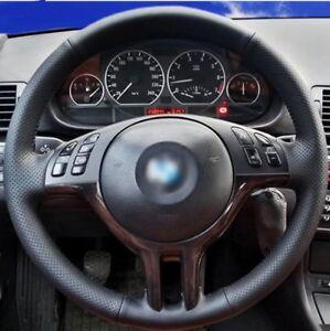 FUNDA-CUBRE-VOLANTE-CUERO-PU-PARA-BMW-E39-X5-E53-E46-CUBREVOLANTE-SERIE-3-5