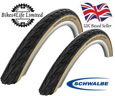 Pair Schwalbe 700 X 28c Delta Cruiser Tan Wall Tyres