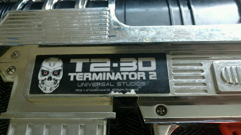 Terminator 2 giocattolo Gun Universal Studios T2 3D 3D 3D Movie theme park rare 685ae5