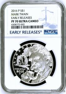 Other Us Coins 2016 P Proof Silver Mark Twain Coin Ngc Pf70 Ultra Cameo Early Releases Regular Tea Drinking Improves Your Health Coins & Paper Money