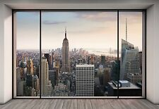 "NEW YORK CITY Wall Mural photo Wallpaper ""Penthouse"" Large size paper wall art"