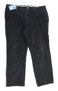 Marks-amp-Spencer-Mens-Textured-Grey-Cotton-Blend-Trousers-Size-W42-L33