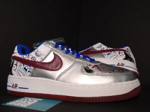 093ee6ab2b1 2006 Nike Air Force 1 Premium LEBRON JAMES ROYALE COLLECTION SILVER ...
