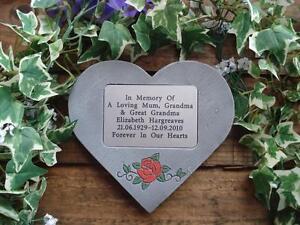 Personalised-Rose-Design-Memorial-Stone-Heart-Grave-Marker-for-Garden-Cemetery