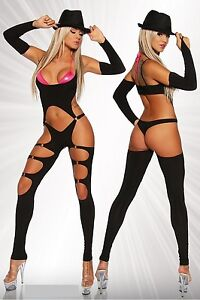 Image is loading Sexy-60-039-s-70-039-s-Gogo-  sc 1 st  eBay & Sexy 60u0027s 70u0027s Gogo Pant Suit Retro Stripper Halloween Costume M 8 ...