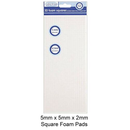 Sheet 960 pcs Foam Pads White Sticky Double Sided Adhesive 5mm x 5mm x 2mm