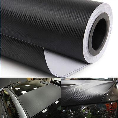 "60"" X 48"" 3D Real Carbon Fiber Vinyl Wrap Sticker Roll Film Black 5FT X 4FT"