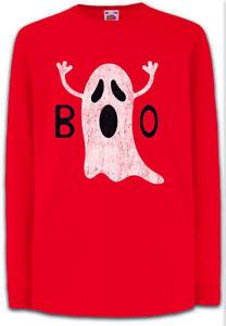 Boo-III-Kinder-Langarm-T-Shirt-Fun-Ghost-Spirit-Nerd-Geek-Halloween