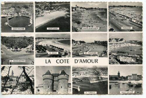 CARTE POSTALE LA COTE D/'AMOUR DIVERS VUES
