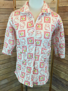 VTG-Child-s-Quilted-Hello-Kitty-House-Coat-Size-Small-Pink-Feifengxing