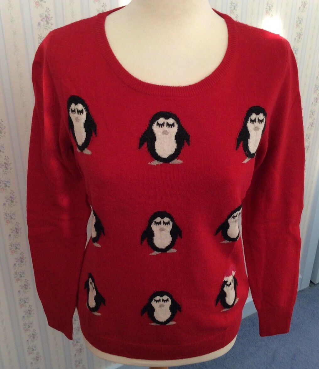 Ladies Arabella & Addison Penguin Jumper With Cashmere- BNWT