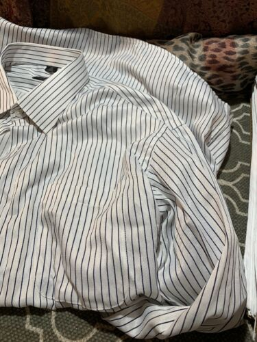 Paul Smith striped linen button down! 17.5. Easy C