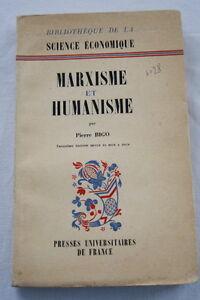 MARXISME-ET-HUMANISME-ECONOMIE-BIGO-MARX-MARCHAL-1961