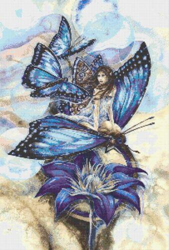 FATA Farfalla # 6-contato cross stitch chart